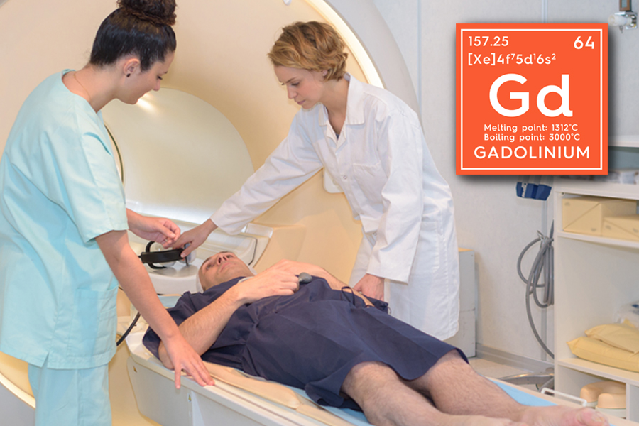 Gadolinium contrast agents are often used in MRI scans.