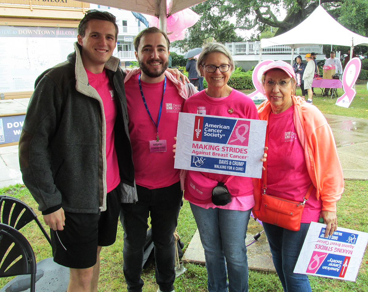 Rain and cool temperatures didn't keep Davis & Crump from walking for a cure.