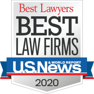 U.S. News Best Lawyers 2020 Best Law Firms badge