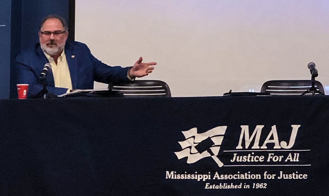 Martin Crump at the 2019 MAJ mid-year convention.