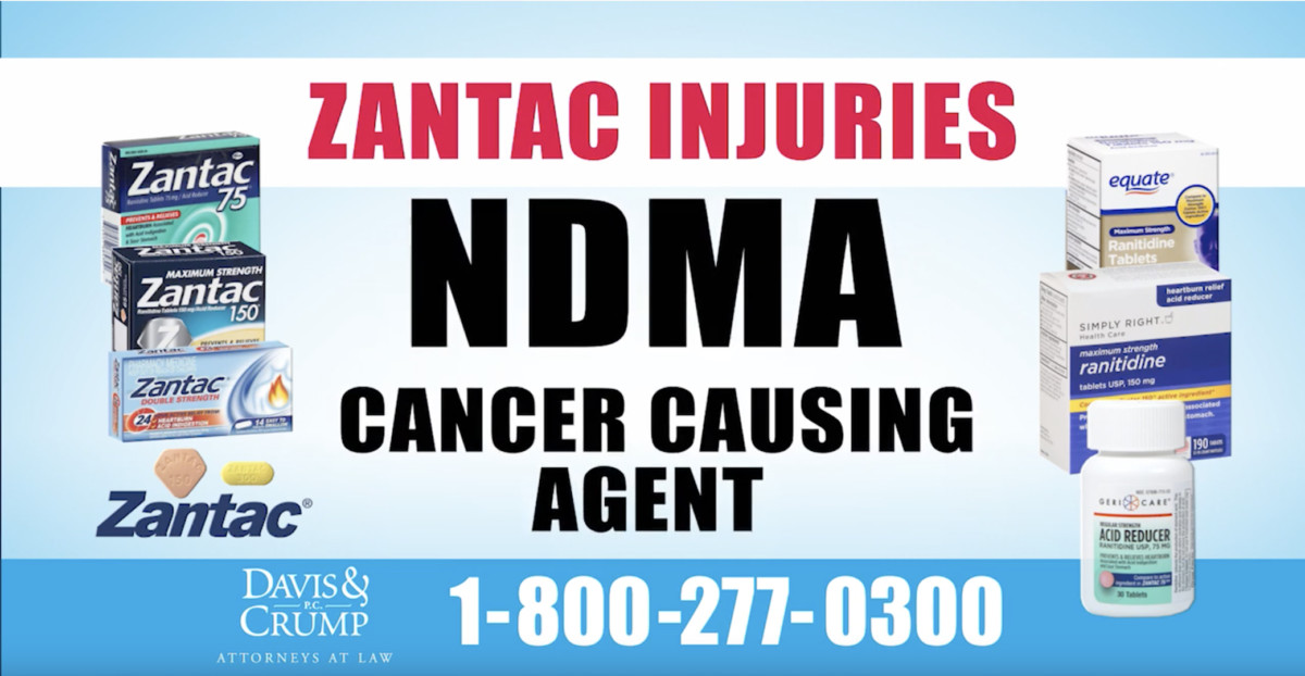 NDMA cancer causing agent in Zantac